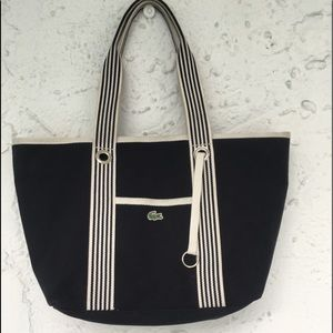 Lacoste tote bag black and white